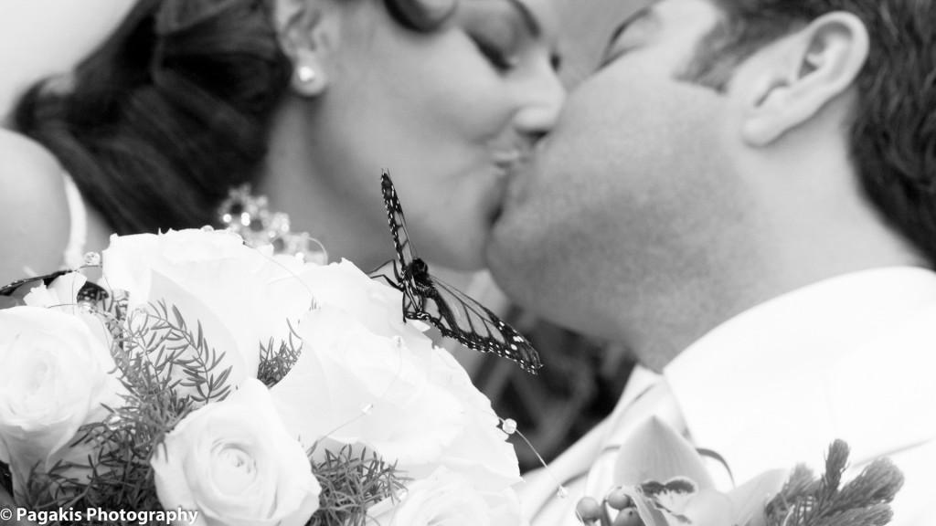 Montreal Weddings first kiss
