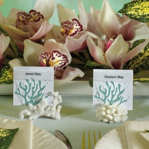 Montreal Weddings place card sea
