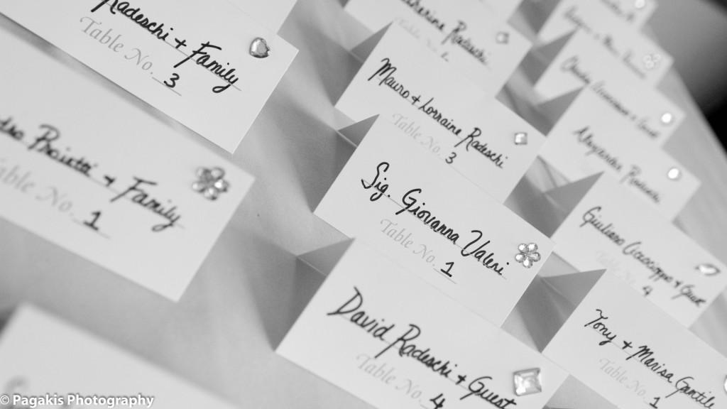 Mariage Montreal Cartes de table